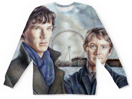 """Свитшот унисекс с полной запечаткой """"Шерлок"""" - sherlock"""