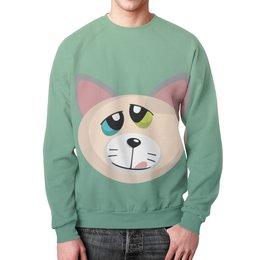 """Свитшот унисекс с полной запечаткой """"Котик"""" - кот, котик, киска, wax, кисулька"""
