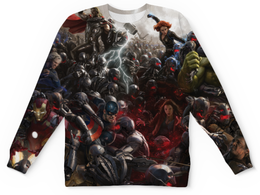 "Свитшот унисекс с полной запечаткой ""The Avengers"" - marvel, мстители, марвел, the avengers"