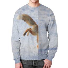 """Свитшот унисекс с полной запечаткой """"Fox Diver"""" - день рождения, дизайн, арт, fox, лиса"""