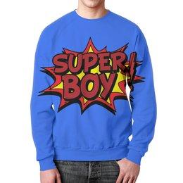 """Свитшот унисекс с полной запечаткой """"Super Boy"""" - арт, кино, фильм, super boy, супер бой"""