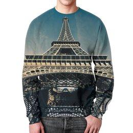 """Свитшот унисекс с полной запечаткой """"Эйфелева башня"""" - франция, париж, башня, эйфелева, достопримечательность"""