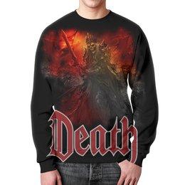 """Свитшот унисекс с полной запечаткой """"Death Art"""" - skull, череп, death, смерть, меч"""