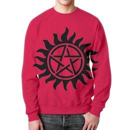 """Свитшот унисекс с полной запечаткой """"древний защитный знак.МАГИЯ.ЗВЕЗДА.СОЛНЦЕ."""" - звезда, солнце, символ, магия, защита"""