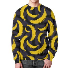 "Свитшот унисекс с полной запечаткой ""Бананы"" - бананы, прикол, banan"
