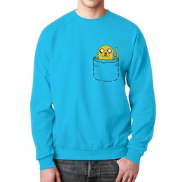 """Свитшот унисекс с полной запечаткой """"Adventure Time"""" - adventure time, время приключений, джейк, jake"""