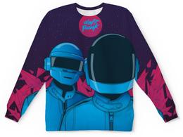 """Свитшот унисекс с полной запечаткой """"Daft Punk"""" - электроника, daft punk, дафт панк"""