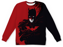 "Свитшот унисекс с полной запечаткой ""Бэтмен / Batman"" - комикс, рисунок, кино, бэтмен"