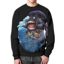 "Свитшот унисекс с полной запечаткой ""Totoro (1)"" - котик, аниме, мистика, тоторо, дух леса"