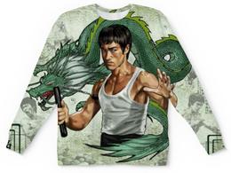 """Свитшот унисекс с полной запечаткой """"Брюс Ли (Bruce Lee)"""" - дракон, bruce lee, брюс ли"""