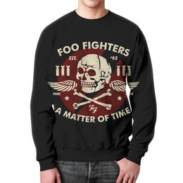 """Свитшот мужской с полной запечаткой """"Foo Fighters"""" - рок, группы, foo fighters, дейв грол"""