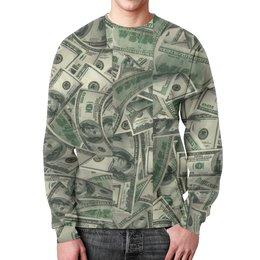 "Свитшот унисекс с полной запечаткой ""American Dollars"" - usa, сша, america, доллар, dollar"