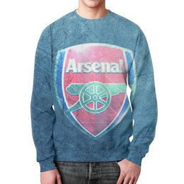 "Свитшот унисекс с полной запечаткой ""Арсенал (Arsenal)"" - арсенал"
