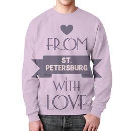 """Свитшот унисекс с полной запечаткой """"Петербург"""" - любовь, питер, подарок, сувенир, петербург"""