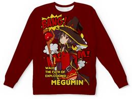 "Свитшот унисекс с полной запечаткой ""Мегумин"" - аниме, манга, konosuba, коносуба, коносуба мегумин"