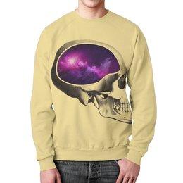 """Свитшот мужской с полной запечаткой """"Вселенная"""" - череп, арт, космос, вселенная"""