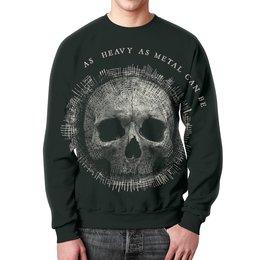 "Свитшот унисекс с полной запечаткой ""Heavy Metal Art"" - skull, череп, heavy metal, рок музыка, хеви метал"