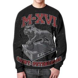 "Свитшот унисекс с полной запечаткой ""M-XVI"" - punk rock, rock, oi, streetpunk"
