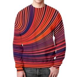 """Свитшот мужской с полной запечаткой """"Цветные полосы"""" - узор, рисунок, полосы, линии, цветные краски"""