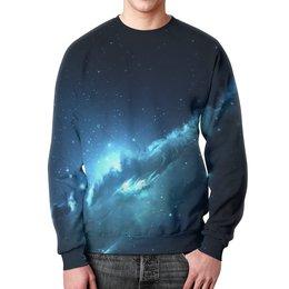 """Свитшот мужской с полной запечаткой """"The Spaceway"""" - космос, наука, прогресс, денис гесс, the spaceway"""
