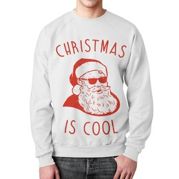 """Свитшот унисекс с полной запечаткой """"Крутой Дед Мороз"""" - новый год, рождество, дед мороз, санта клаус, новогодняя"""