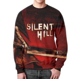 """Свитшот мужской с полной запечаткой """"Silent Hill"""" - ужасы, silent hill, страж алессы"""
