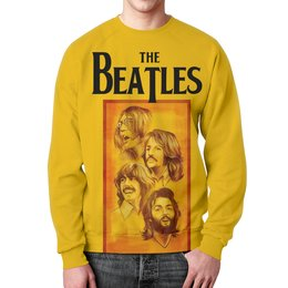 "Свитшот мужской с полной запечаткой ""The Beatles"" - beatles, the beatles, битлз, рок музыка, рок группа"