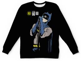 "Свитшот унисекс с полной запечаткой ""Бэтмен Иэн Кёртис"" - batman, joy division, бэтмен, ian curtis, иэн кёртис"