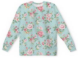 """Свитшот унисекс с полной запечаткой """"Flowers"""" - цветы, весна, растения, пионы"""