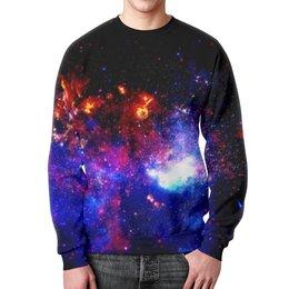 """Свитшот мужской с полной запечаткой """"Великий Космос"""" - космос, наука, прогресс, денис гесс, the spaceway"""