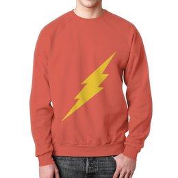"""Свитшот унисекс с полной запечаткой """"The Flash """" - флэш, the flash"""