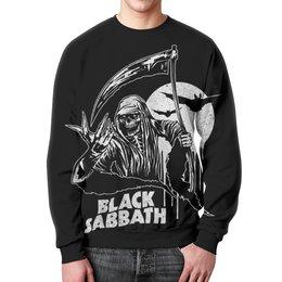 """Свитшот унисекс с полной запечаткой """"Black Sabbath"""" - metal, рок, группы, black sabbath, ozzy osbourne"""