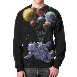 """Свитшот унисекс с полной запечаткой """"Космонавт"""" - космос, планеты, космонавт"""