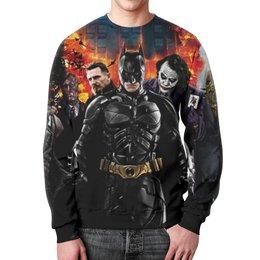 """Свитшот унисекс с полной запечаткой """"Batman (Бэтмен)"""" - batman, джокер, бэтмен, бейн, двуликий"""