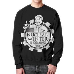 "Свитшот унисекс с полной запечаткой ""Fallout. Nuclear winter is coming"" - игры, winter is coming, fallout, геймерские, vault-boy"