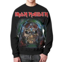 "Свитшот мужской с полной запечаткой ""Iron Maiden Band"" - heavy metal, iron maiden, хэви метал, eddie, nwobhm"
