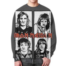 "Свитшот унисекс с полной запечаткой ""Iron Maiden Band"" - iron maiden, eddie, heavy metal, nwobhm, хэви метал"