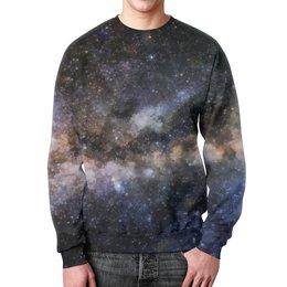 """Свитшот мужской с полной запечаткой """"Акварельное Пространство"""" - космос, абстракция, акварель, галактика, пространство"""