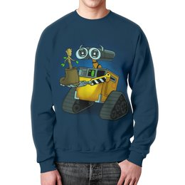 """Свитшот мужской с полной запечаткой """"Wall-E   """" - прикол, юмор, пародия, робот, валли"""