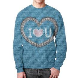 """Свитшот унисекс с полной запечаткой """"Jeans"""" - сердце, любовь, подарок, для влюбленных, на 14 февраля"""