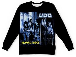 """Свитшот унисекс с полной запечаткой """"U.D.O. Band"""" - heavy metal, удо, accept, udo, удо диркшнайдер"""