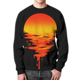 """Свитшот мужской с полной запечаткой """"On the Sunset"""" - night, солнце, море, ночь, закат"""