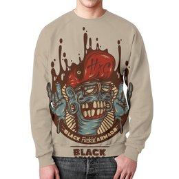 "Свитшот унисекс с полной запечаткой ""Swag Art"" - skull, череп, zombie, зомби, swag"