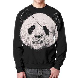 """Свитшот унисекс с полной запечаткой """"Панда пират"""" - панда, пират"""
