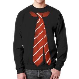 """Свитшот унисекс с полной запечаткой """"Галстук"""" - приколы, галстук, одежда"""