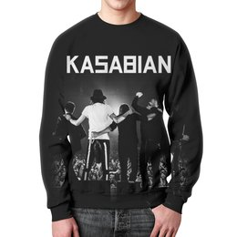 """Свитшот мужской с полной запечаткой """"Kasabian"""" - музыка, kasabian, касабиан, рок группы, касейбиан"""