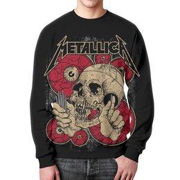 """Свитшот мужской с полной запечаткой """"Metallica"""" - heavy metal, metallica, рок музыка, металлика, thrash metal"""