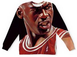 """Свитшот унисекс с полной запечаткой """"Майкл Джордан (Michael Jordan)"""" - nba, jordan, нба"""