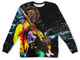 """Свитшот унисекс с полной запечаткой """"Джими Хендрикс (Jimi Hendrix)"""" - jimi hendrix, джими хендрикс"""