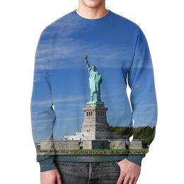 """Свитшот унисекс с полной запечаткой """"Статуя Свободы"""" - нью-йорк, америка, статуя свободы"""